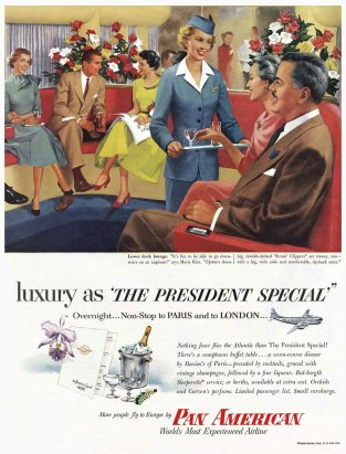vintage ads StratoCruiser Boeing 377